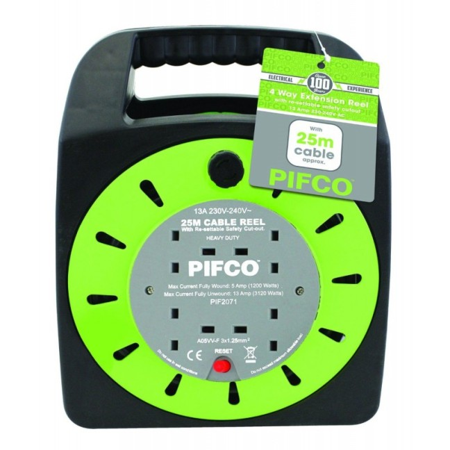 pifco-2071-4-way-extension-reel-with-13a-thermal-fuse-and-25m-cable