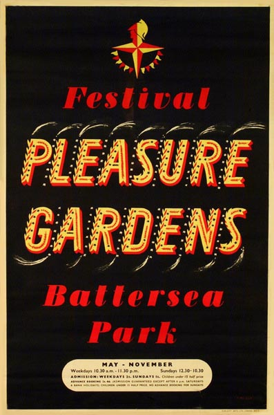 16 Poster for the Festival Pleasure Gardens in Battersea Park